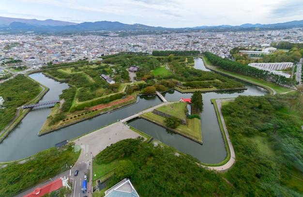 五稜郭タワーからの五稜郭五星像函館日本 Premium写真
