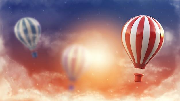 Концепция стиля жизни воздушного шара. Premium Фотографии