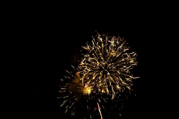 Фейерверк освещает небо Premium Фотографии