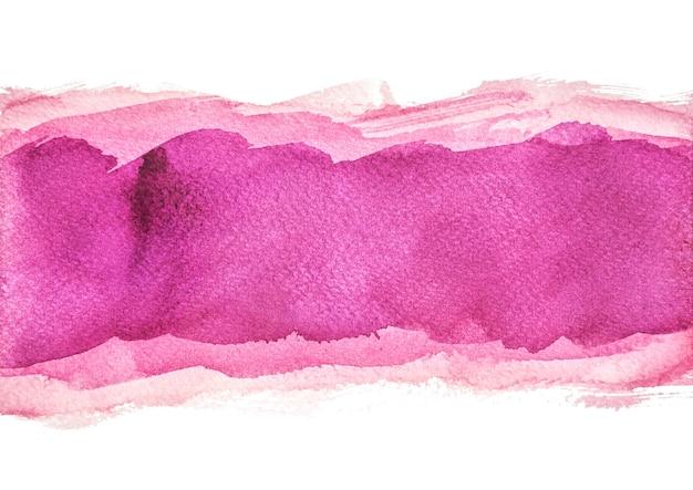多層パープルの水彩背景、手塗り Premium写真