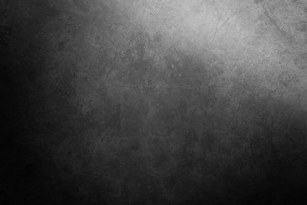 古いグランジブラックセメント壁テクスチャ背景 Premium写真