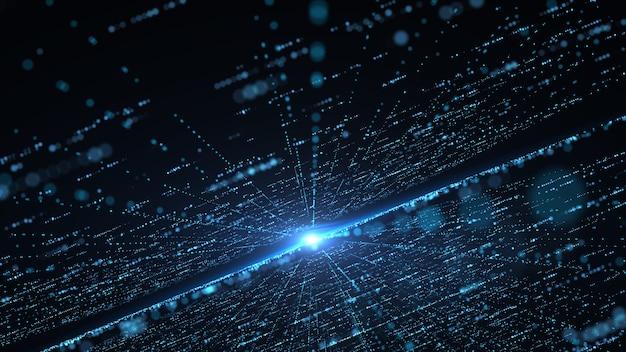 未来的な大規模な情報技術のコンセプト。 Premium写真