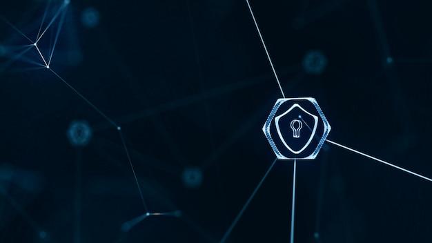 インターネット技術ネットワークとサイバーセキュリティの概念 Premium写真