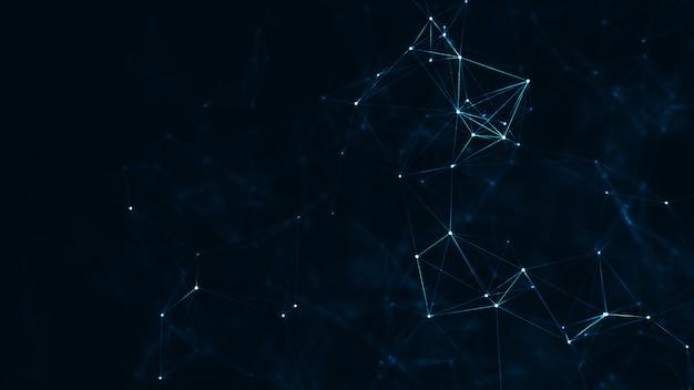 抽象的な神経叢の幾何学的図形 Premium写真