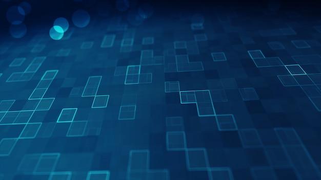 Синий большой фон данных цифровой. Premium Фотографии