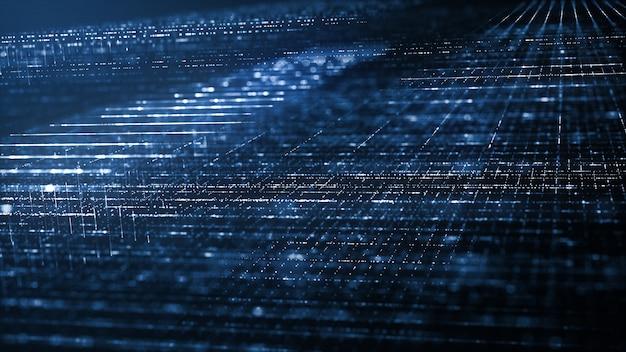 抽象的なデジタル技術の背景 Premium写真