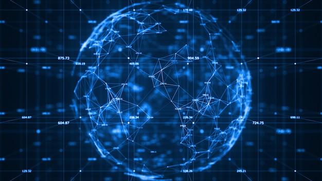 Технология передачи данных в двоичном коде по сети связи Premium Фотографии
