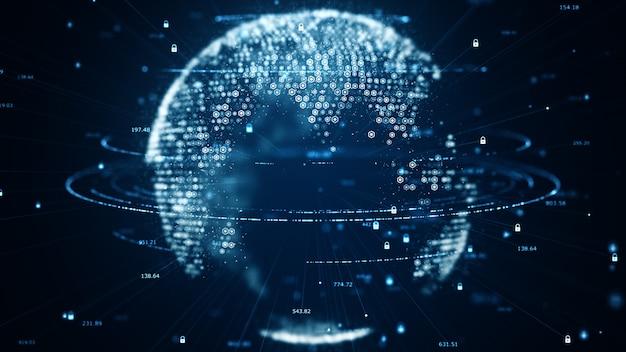 Движение цифрового потока данных. Premium Фотографии