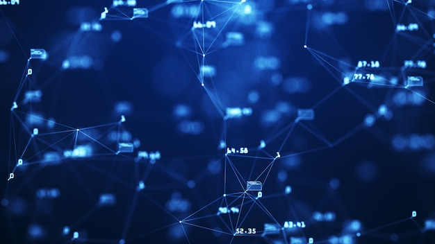 グローバルネットワークとデータコネクションの成長 Premium写真