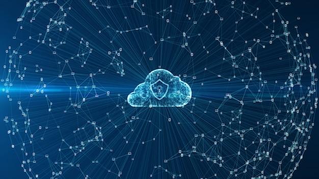Облачные вычисления и кибербезопасность. Premium Фотографии