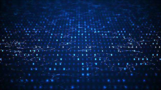 Абстрактный фон цифровой технологии Premium Фотографии