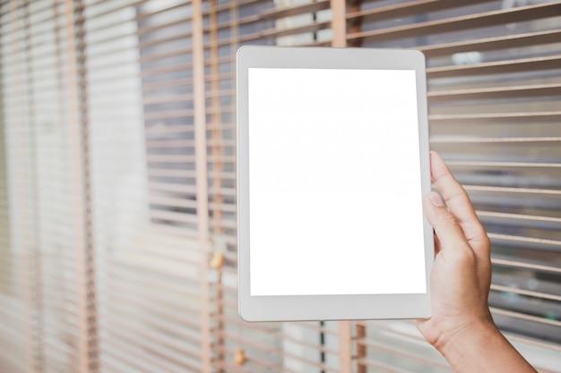 Макет планшета пустой дисплей. Premium Фотографии