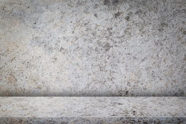 古い汚れたコンクリートの壁とビンテージデザイン、背景のテクスチャ Premium写真