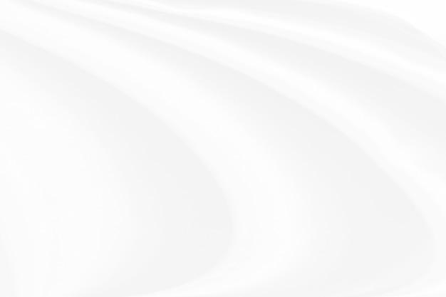 白い布のテクスチャ背景、波状の布 Premium写真