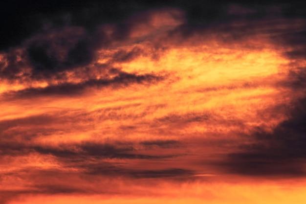 夕焼けの金色の空のビュー Premium写真