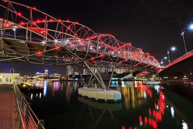 Спиральный мост, сингапур Premium Фотографии