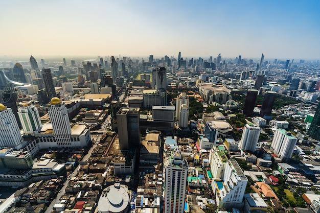 Бангкок город городской горизонт таиланда, городской пейзаж Premium Фотографии