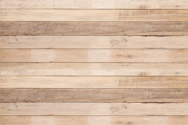 古い木の板壁の背景、古い木製の不均一なテクスチャ背景 Premium写真