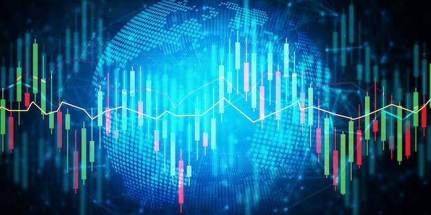 Фондовая биржа цифровой торговли Premium Фотографии