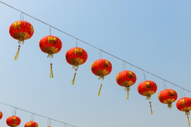 新年祭の間に中国のランタン Premium写真