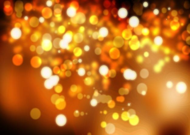 ゴールドフェスティバルクリスマスの背景 Premium写真