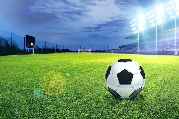 サッカースタジアムサッカー Premium写真