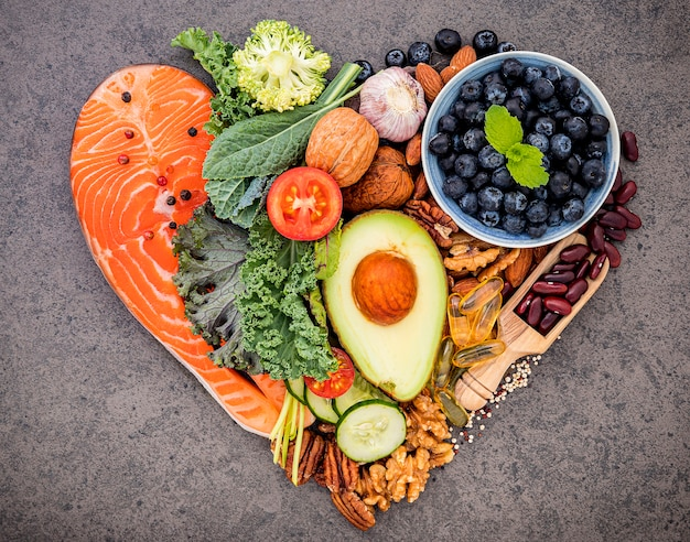 健康食品の選択のための成分 Premium写真