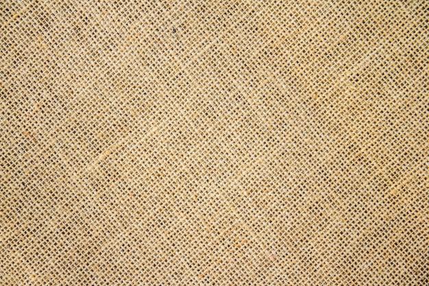 黄麻布の袋の背景とテクスチャー Premium写真