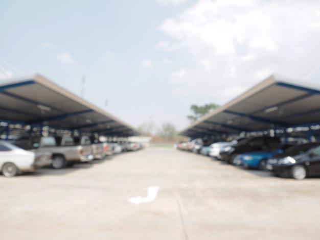 デフォーカスぼかし駐車場 Premium写真