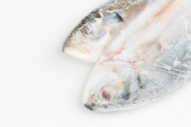 氷の上で新鮮な魚料理 Premium写真