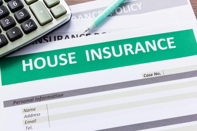 家の保険形態を上から見た図 Premium写真