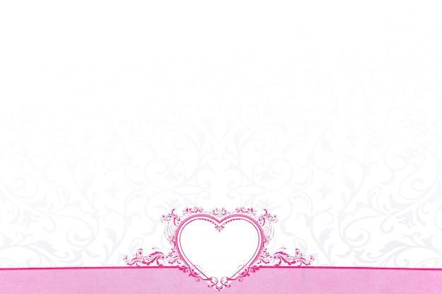 バレンタインデーのためのピンクの心 Premium写真