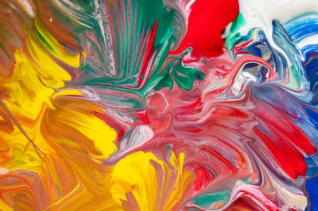 カラフルなアート塗料の背景 Premium写真