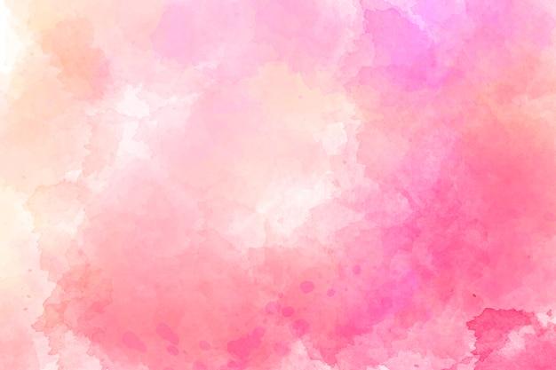 ピンクの水彩画の背景。デジタルドローイング Premium写真