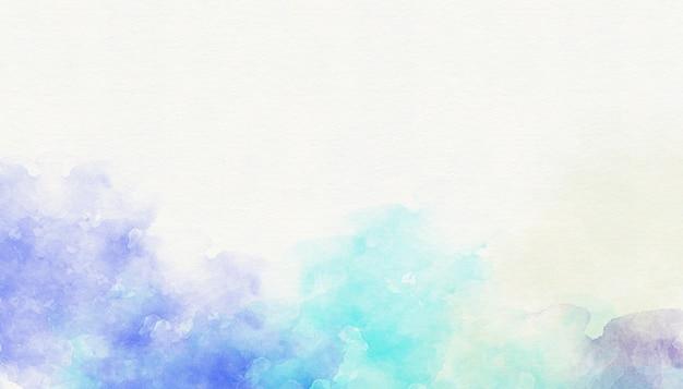抽象的なブルーの水彩画の背景 Premium写真