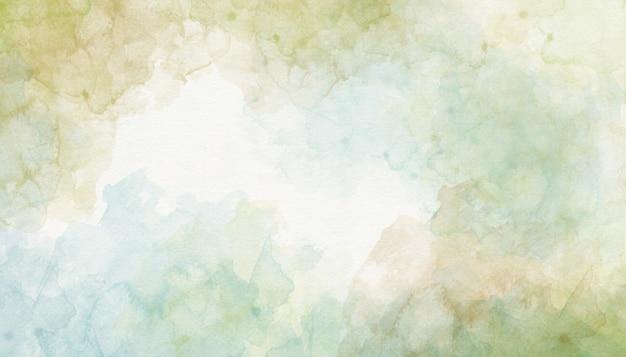 緑の水彩画の背景の抽象化 Premium写真
