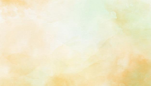 繊細な黄色の抽象的な水彩画の背景 Premium写真