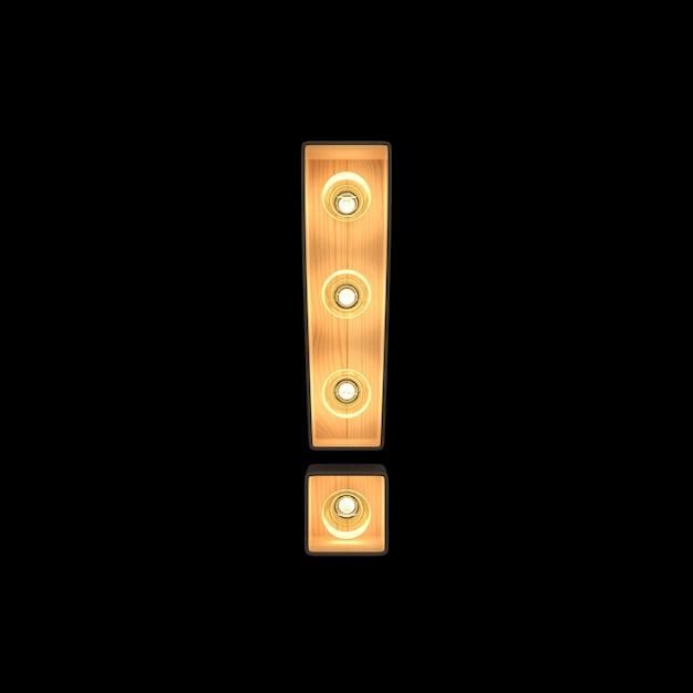 マーキーライトの感嘆符記号 Premium写真