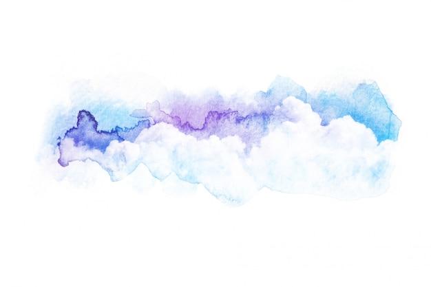 水彩画雲の空のイラスト。 Premium写真