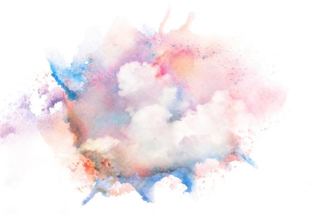 カラフルな水彩雲 Premium写真