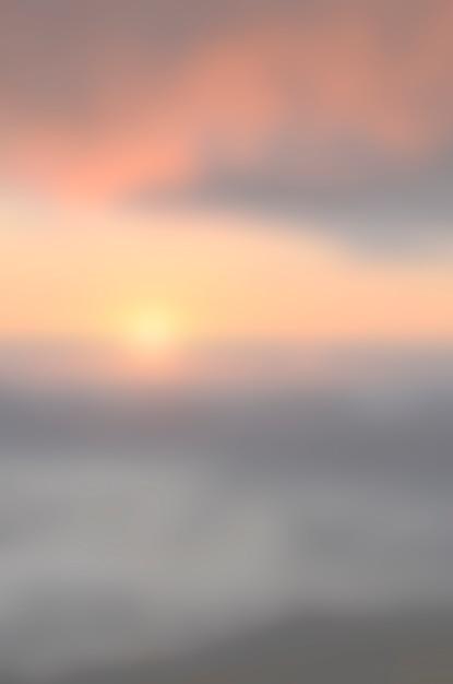 ぼやけ日の出背景、早朝の光。 Premium写真