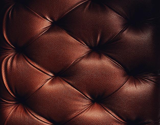 茶色のトーンで豪華な装飾のための本革の室内装飾の背景 Premium写真
