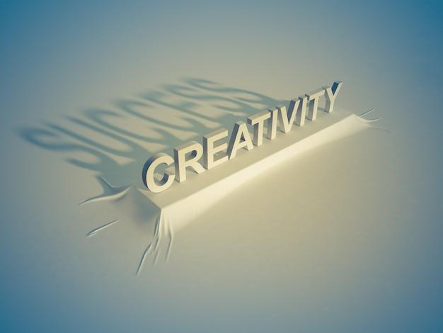 創造性=成功 Premium写真