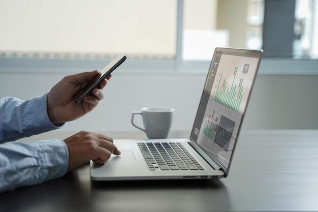 カスタマーマーケティング販売ダッシュボードグラフィックコンセプト Premium写真