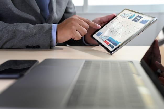 データ分析の統計情報 Premium写真