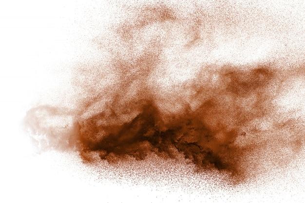 褐色粉塵爆発のフリーズモーション Premium写真