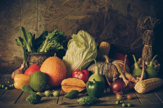 静物野菜や果物。 Premium写真