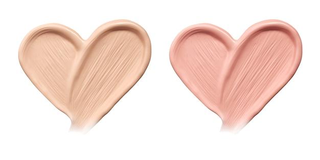 心臓の基盤の化粧品塗りつぶし。 Premium写真
