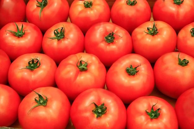 トマトの背景 Premium写真
