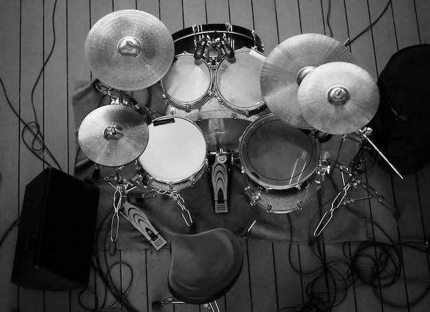 Вид сверху барабанной установки Premium Фотографии